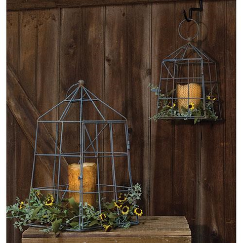 Metal Open Air Lanterns ( 2 sizes) - BELLAVINTAGEHOME