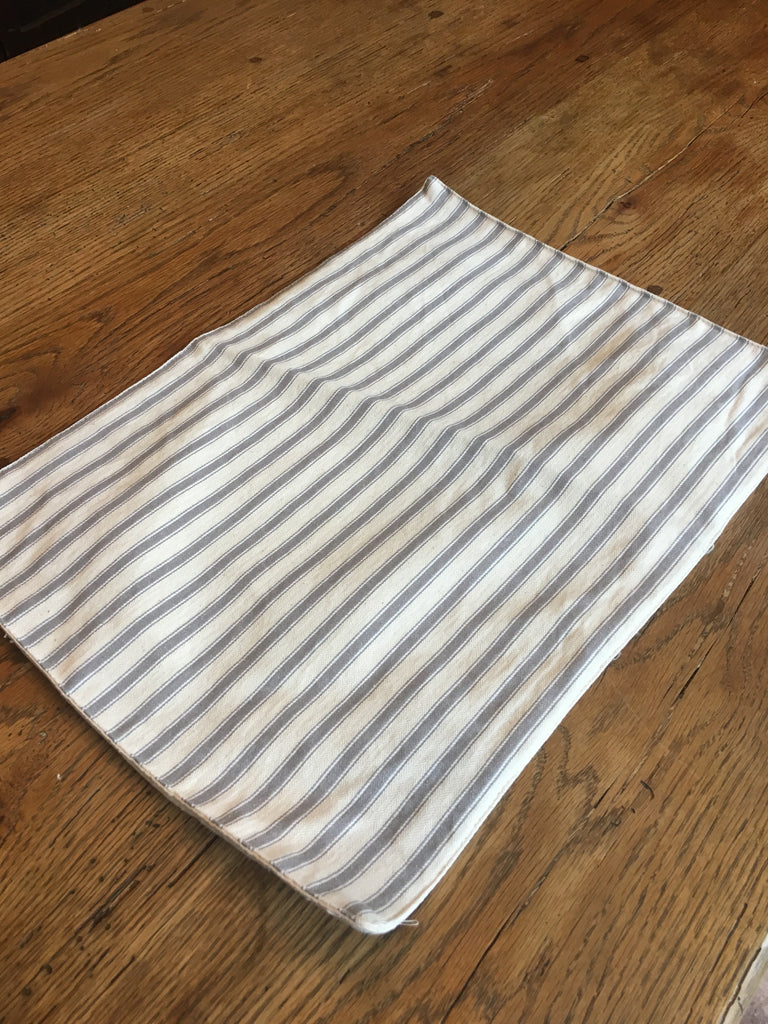 Grey Stripe  Buffalo Placemat - BELLAVINTAGEHOME