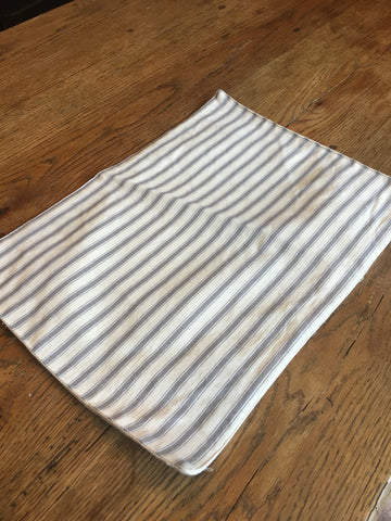 Grey Stripe  Buffalo Placemat Set/ 4 - BELLAVINTAGEHOME