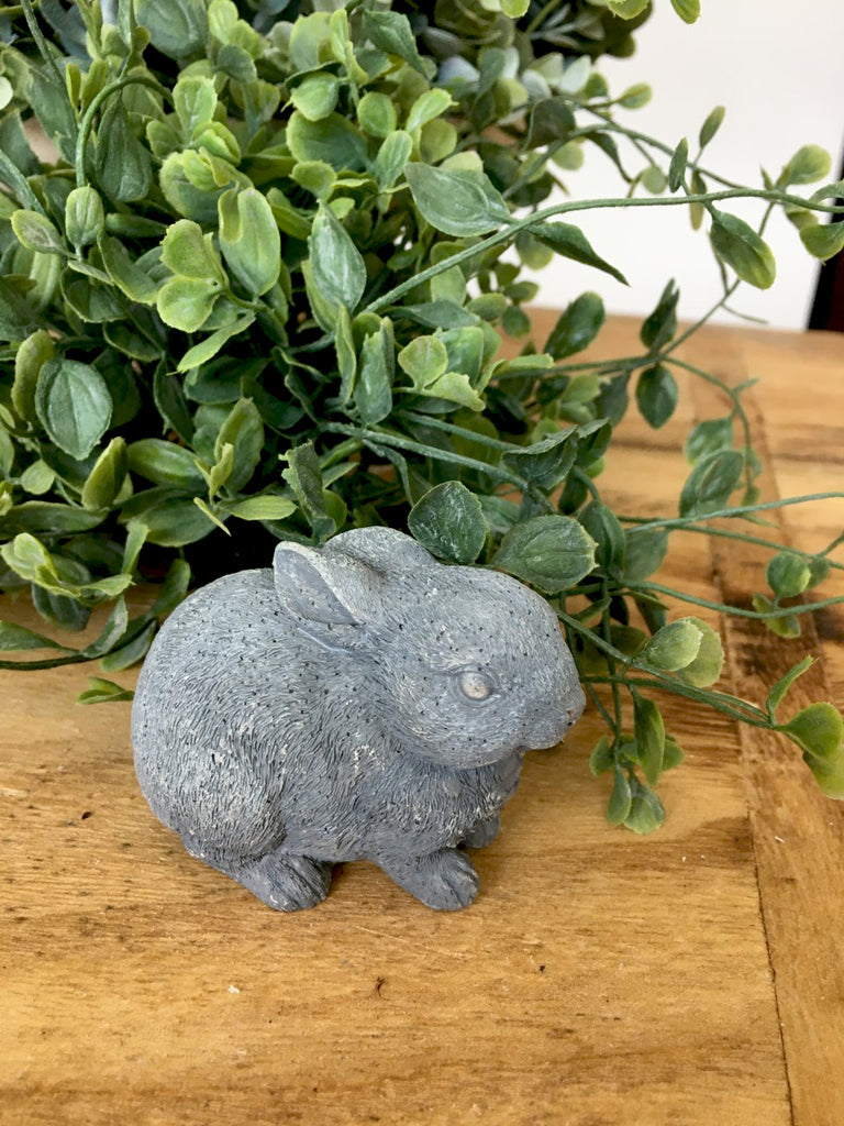 "Darling Grey Sitting Bunny 3"" - BELLAVINTAGEHOME"
