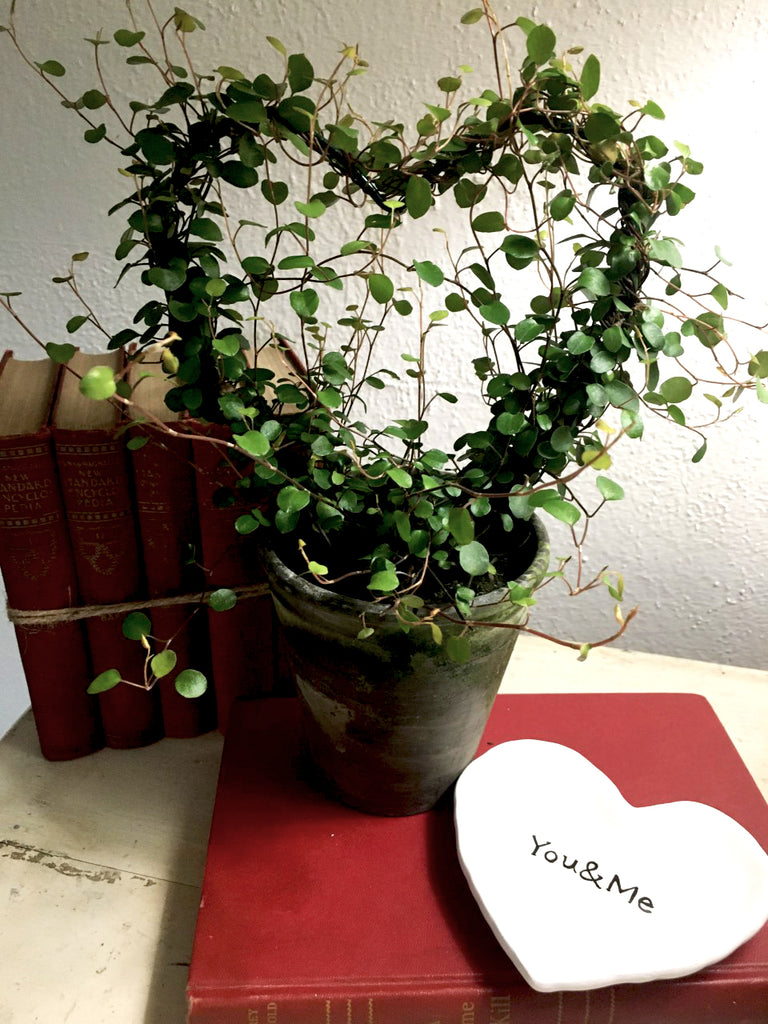 NEW!  VERY LIMITED!  Angel Vine Heart Topiary - BELLAVINTAGEHOME
