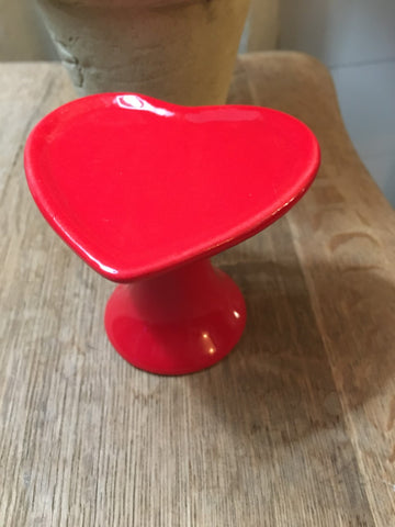 NEW! Red Heart Cupcake Stand - BELLAVINTAGEHOME