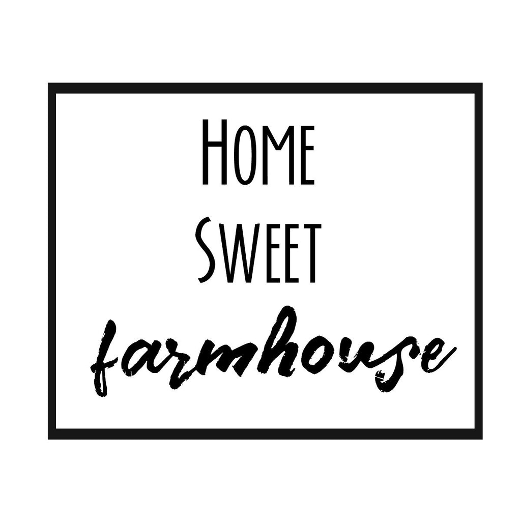 Home Sweet Farmhouse  Print,  Pillow, Note Cards, Tea Towel, Digital Download - BELLAVINTAGEHOME