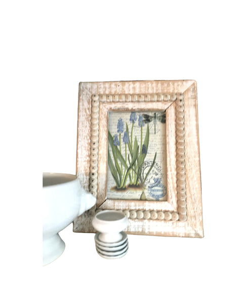 Beaded Frame with Print - BELLAVINTAGEHOME