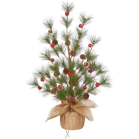 Tree- Pine tree with red Jingle Bells - BELLAVINTAGEHOME