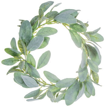"Lamb's Ear  Wreath 12"" - BELLAVINTAGEHOME"
