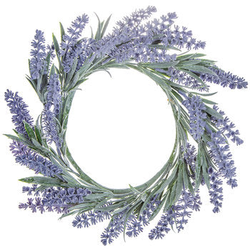 "French Lavender Wreath 12"" ( Faux) - BELLAVINTAGEHOME"