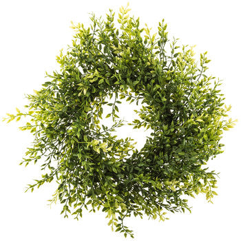 Lemon Boxwood Wreath 18""