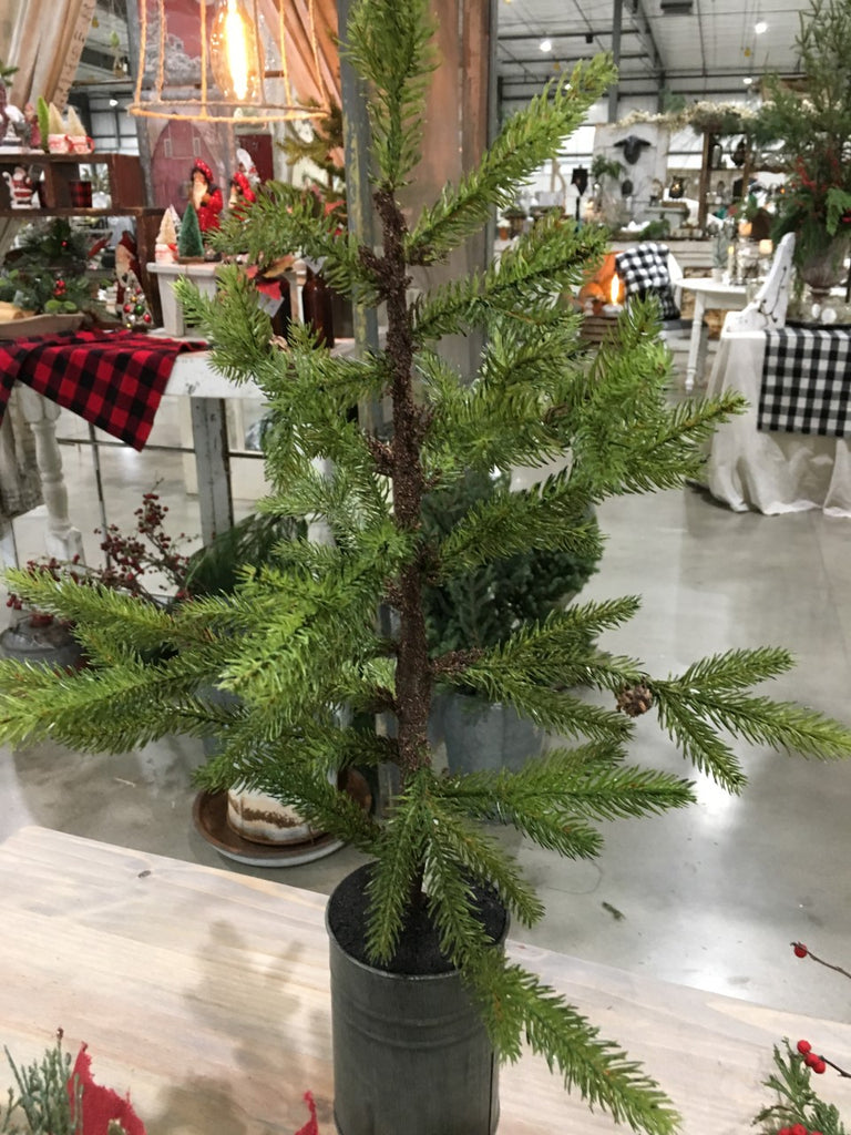 Tree-Farmhouse  Potted Pine Tree - BELLAVINTAGEHOME