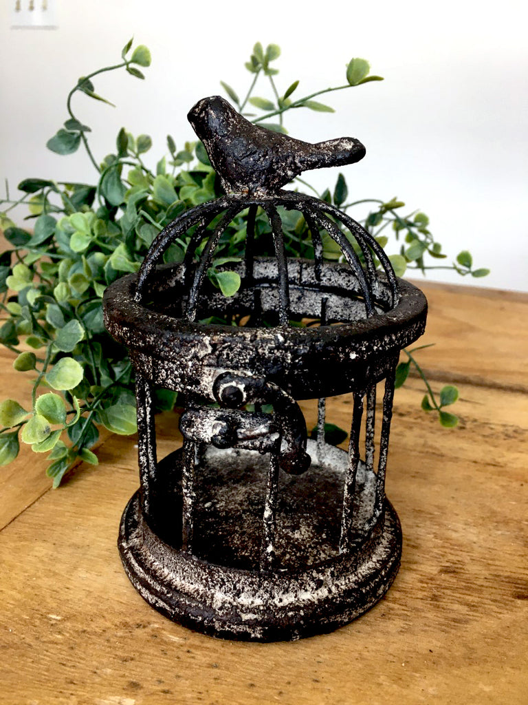 Metal  Mini Birdcage   NEW! - BELLAVINTAGEHOME