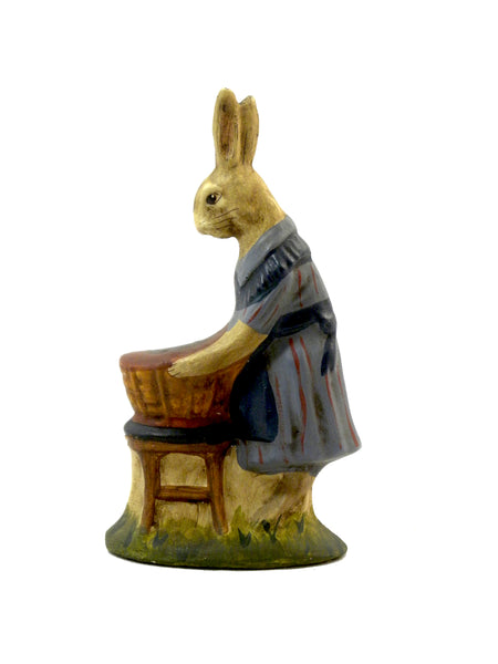 Mother Rabbit with Basket- Open Edition - BELLAVINTAGEHOME
