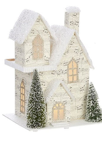 French Style-Lighted Music Paper House I - BELLAVINTAGEHOME