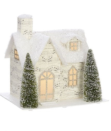 French Style-Lighted Music Paper House II - BELLAVINTAGEHOME