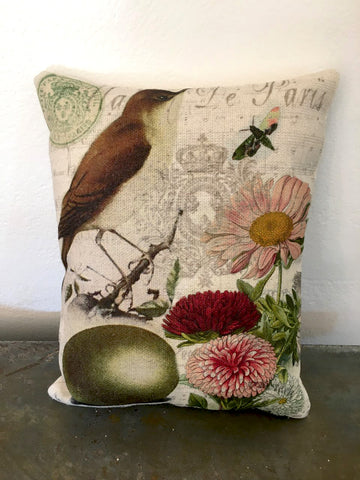 Nightingale Accent Pillow - BELLAVINTAGEHOME
