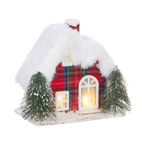 Traditional-Lighted Plaid House Small