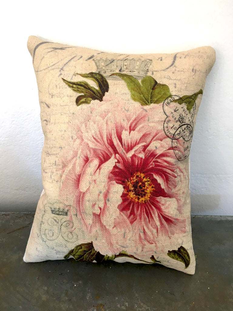Pink Rose Accent Pillow - BELLAVINTAGEHOME