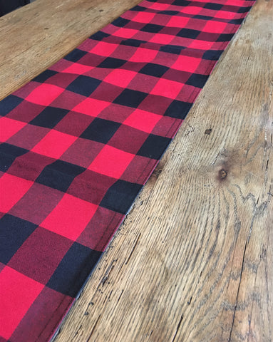 Red Buffalo Check  Table Runner - BELLAVINTAGEHOME