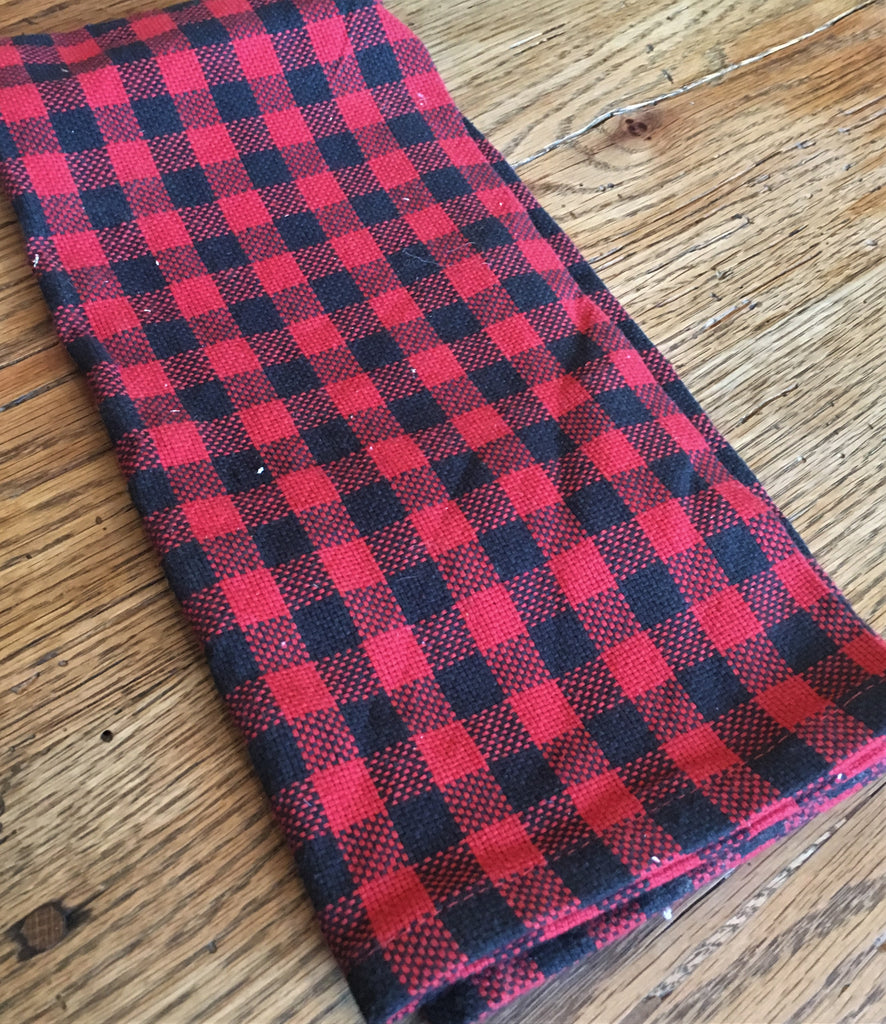 Red Buffalo Check   Towel - BELLAVINTAGEHOME