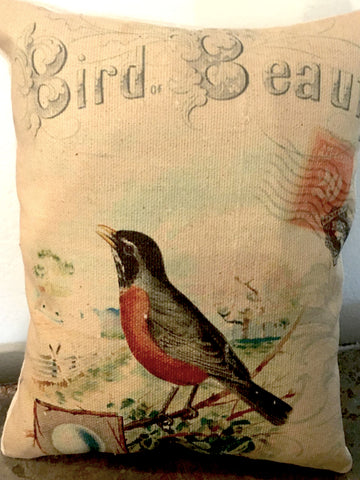 Robin Beauty  Accent Pillow - BELLAVINTAGEHOME