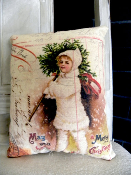 Paper  Christmas Snow Child  Print,  Pillow, Note Cards