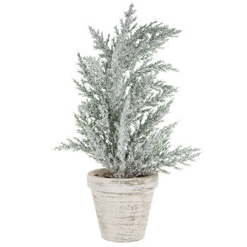 "Snowy tree in white pot 13"""" - BELLAVINTAGEHOME"