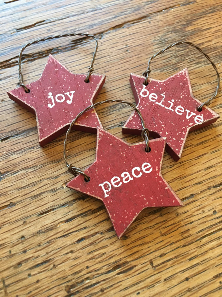 Wooden Star Ornament Sets - BELLAVINTAGEHOME