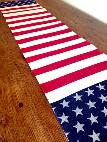 Stars and Stripes Table Runner - BELLAVINTAGEHOME