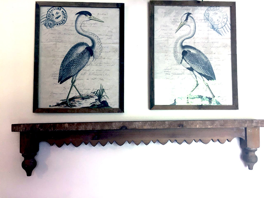 Set/ 2 Framed Coastal Shore Bird  Prints - BELLAVINTAGEHOME