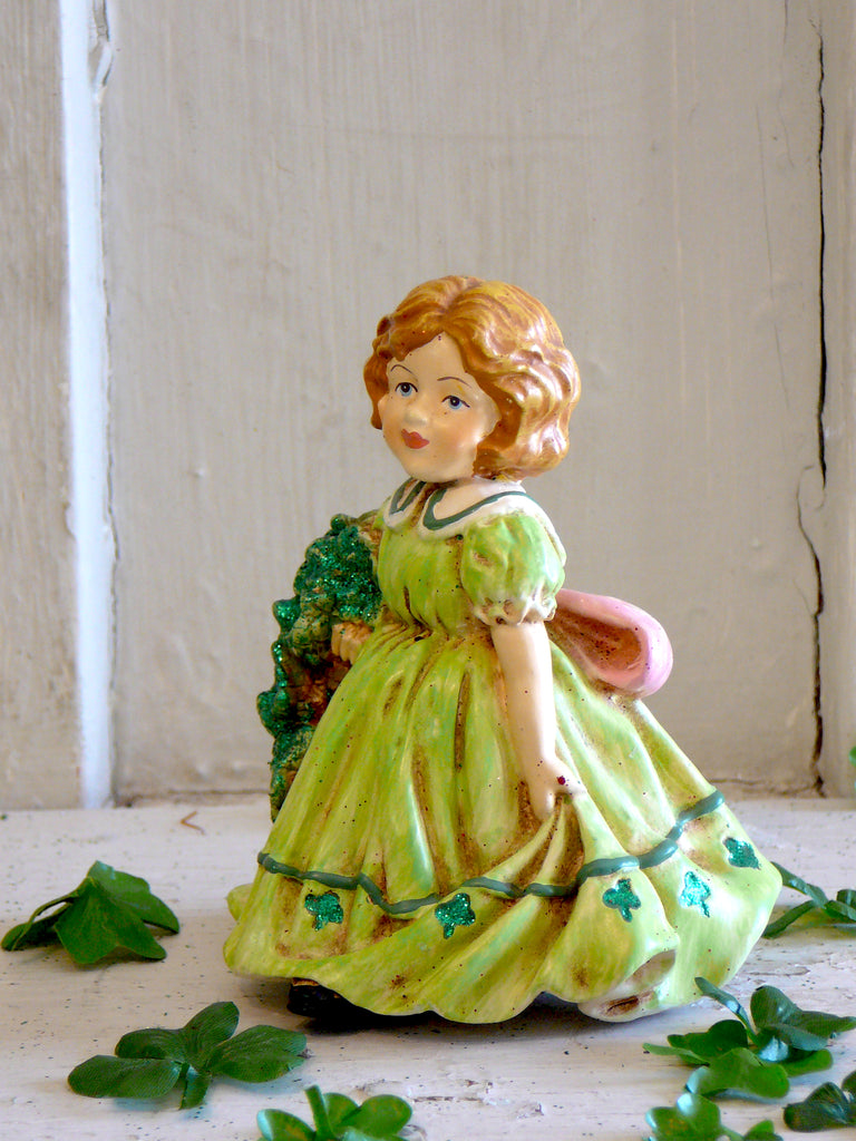 St Patrick's Lass with Shamrock Bouquet - BELLAVINTAGEHOME