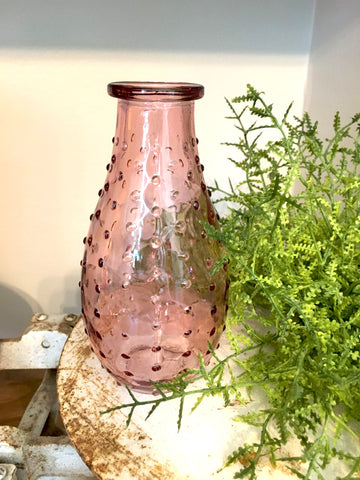 New! Pink Hobnail Bottle - BELLAVINTAGEHOME
