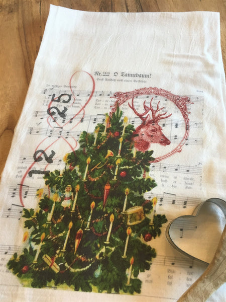Tea Towel- Tree - BELLAVINTAGEHOME