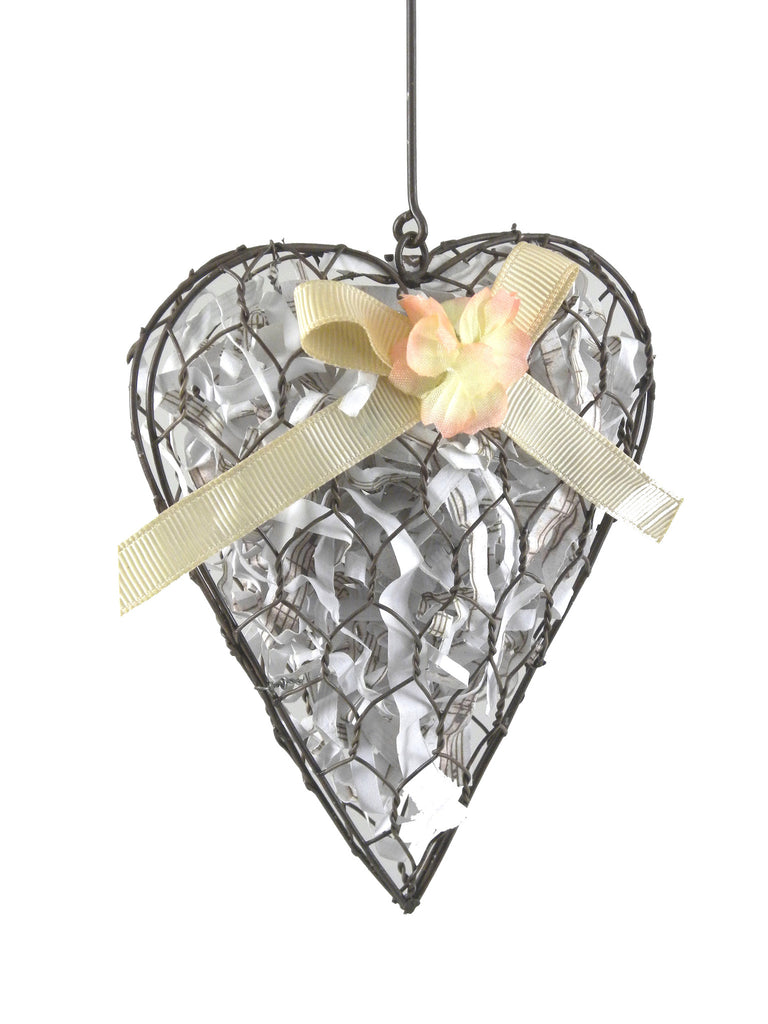 French Wire Heart Set of 2 - BELLAVINTAGEHOME