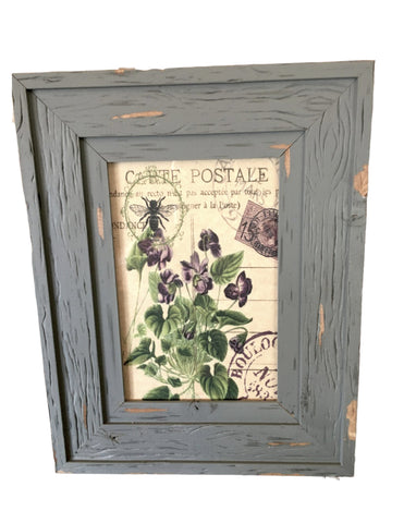 Grey Weathered   wood Frame with Print (More Options) - BELLAVINTAGEHOME