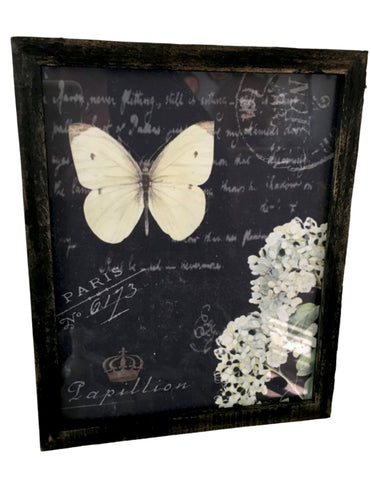 Black  wood Frame with Print (More Options) - BELLAVINTAGEHOME