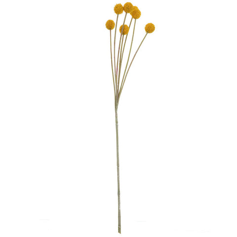 Billy Button Stems Set/3 ( yellow) - BELLAVINTAGEHOME