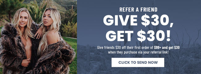 Refer a Friend Promotion: Give $30, Get $30
