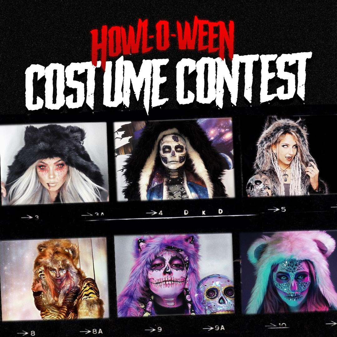 SpiritHoods Halloween Costume Contest 2021 Banner with 6 example costumes