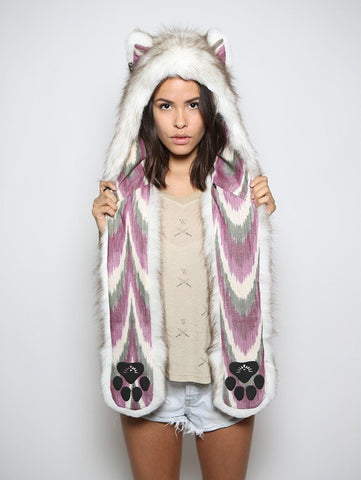 Brown Husky Purple Rain SpiritHood