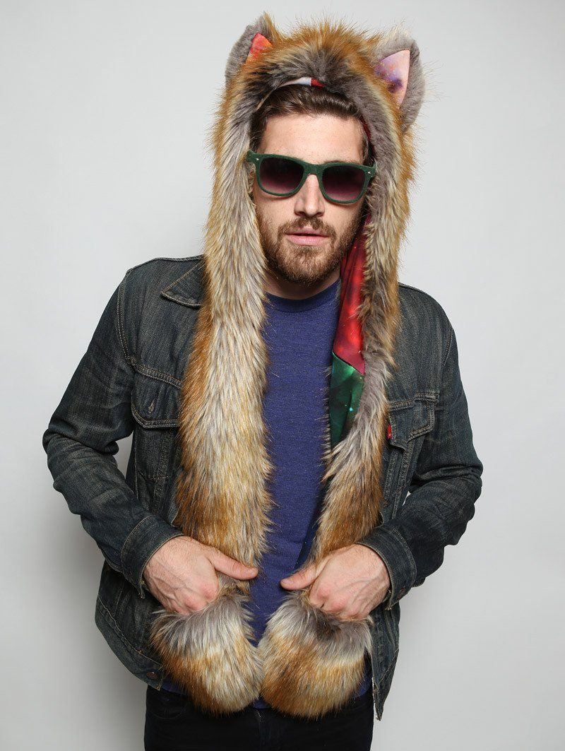 The BlackMilk Red Fox Rainbow Galaxy SpiritHood