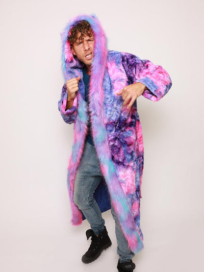 Classic Cotton Candy Cat Faux Fur Style Robe - SpiritHoods