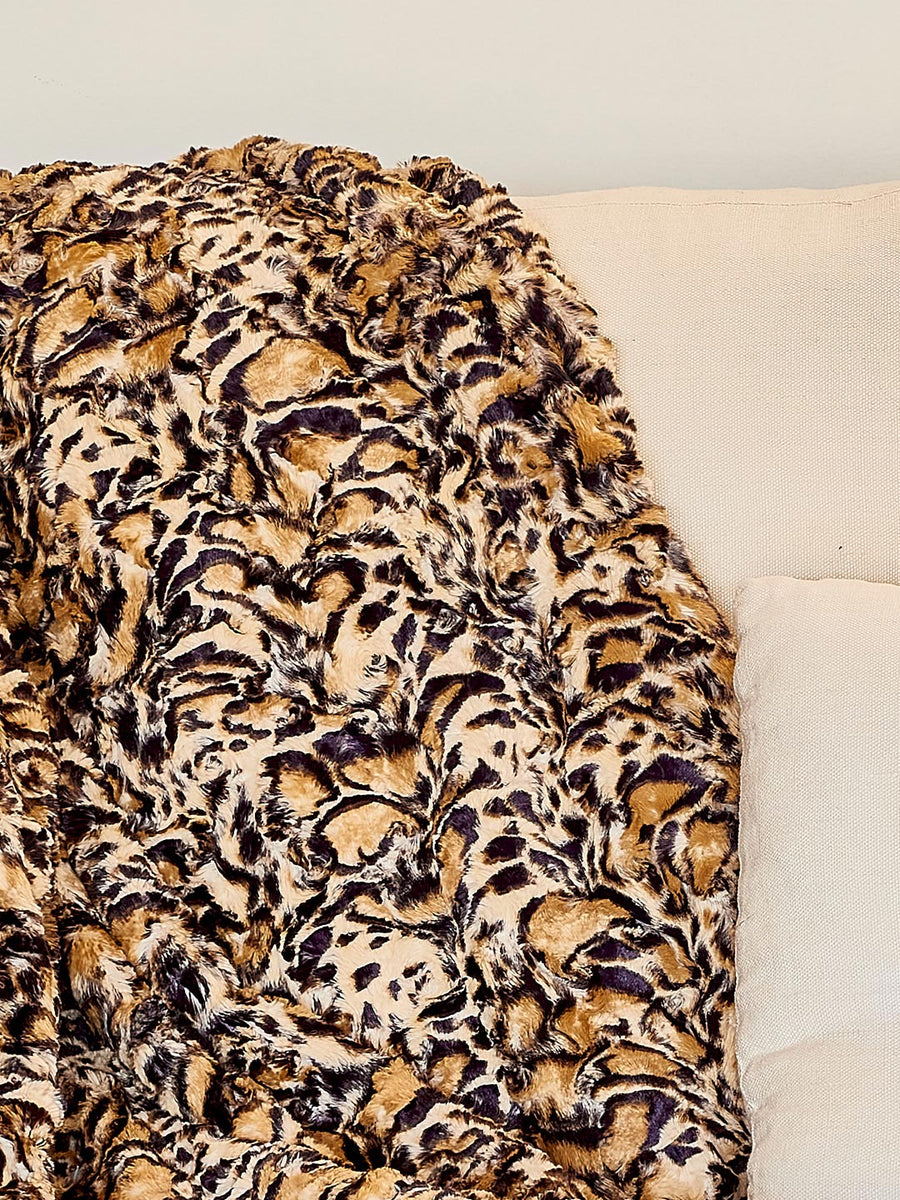 Cheetah Luxe Fake Fur Throw - SpiritHoods