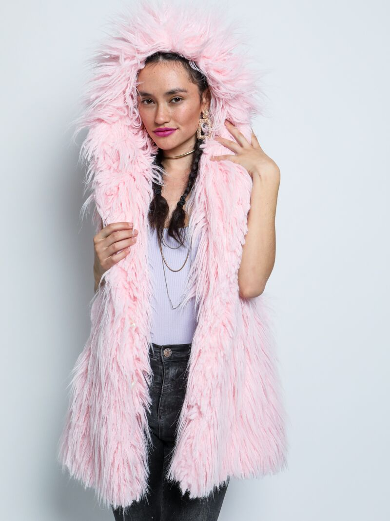 Flamingo Faux Fur Vest