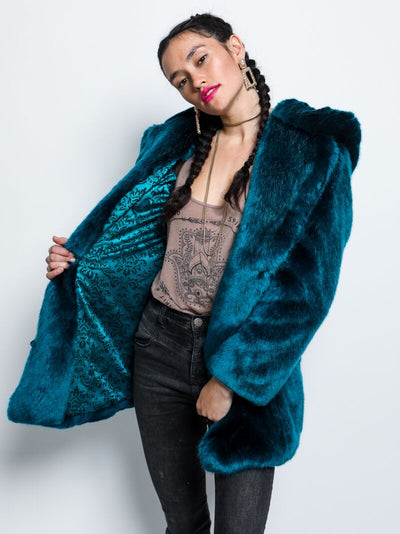 Royal Wolf Luxe Faux Fur Coat - SpiritHoods