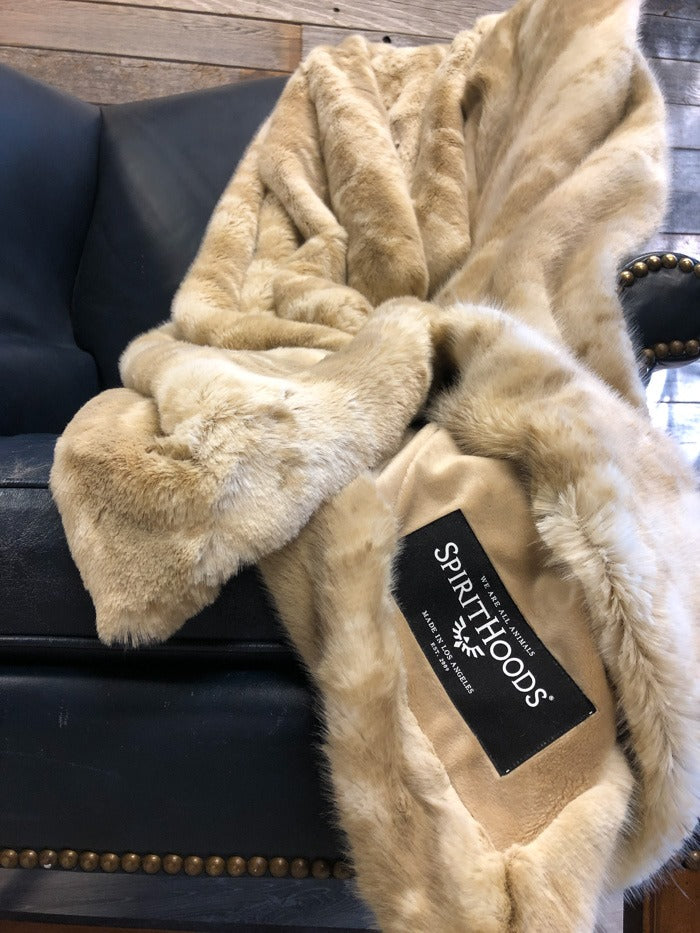 Luxe FBLive Snowy Faux Fur Throw - SpiritHoods