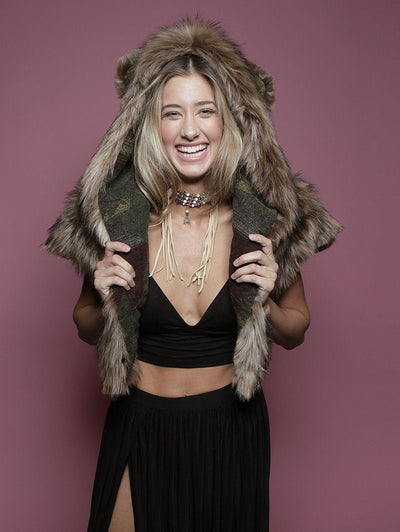 SpiritHoods Grizzly Italy Faux Fur Shawl - SpiritHoods