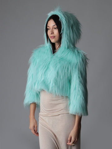 Aquamarine Dream Open Crop SpiritHood
