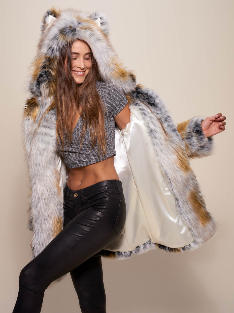Classic Arctic Fox Faux Fur Coat