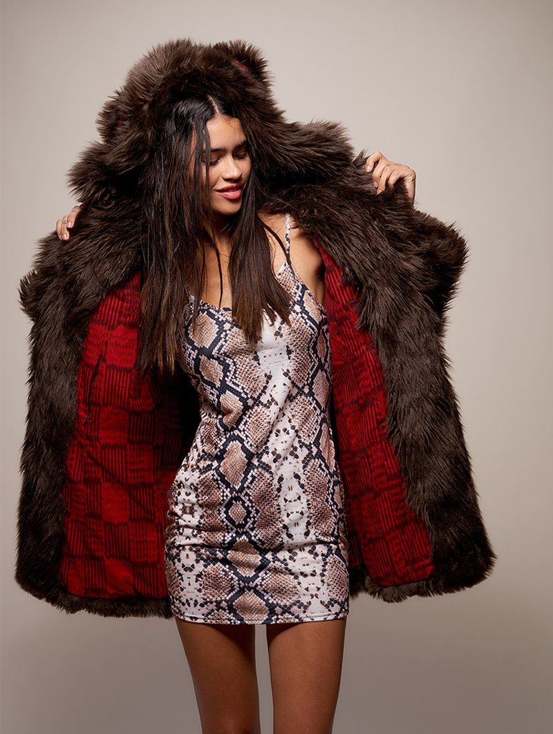 Limited Edition Brown Bear Faux Fur Coat - SpiritHoods