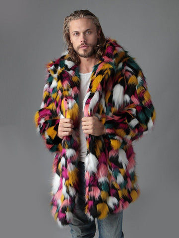 Butterfly Faux Fur Coat SpiritHood