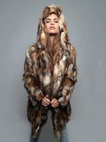 Brown Rabbit Faux Fur Coat SpiritHood